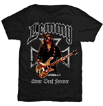 Lemmy Men's Tee: Iron Cross Stone Deaf Forever