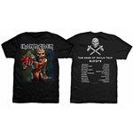 Iron Maiden Men's Premium Tee: The Book of Souls European Tour