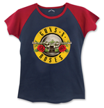 Guns N' Roses Ladies Fashion Tee: Circle Logo