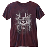 Guns N' Roses Men's Fashion Tee: Faded Skull