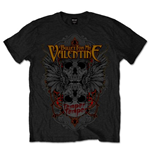 Bullet For My Valentine Men's Tee: Winged Skull