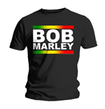 Bob Marley Men's Tee: Rasta Band Block
