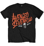 Avenged Sevenfold Men's Tee: Orange Splatter