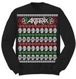 Anthrax Mens Sweatshirt: Skulls Christmas