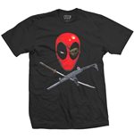 Marvel Comics Mens Tee: Deadpool Crossbones