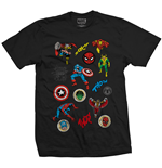 Marvel Comics Men's Tee: Random Badges