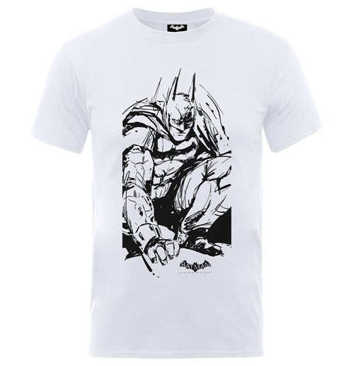 DC Comics Boy's Tee: Batman Arkham Sketch