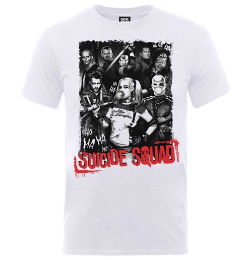 DC Comics Men's Tee: Suicide Squad Harleys Gang