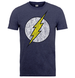 DC Comics Men's Tee: Flash Distressed Logo