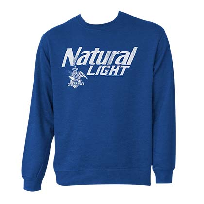 Natty Light Logo Crew Neck Bue Sweatshirt