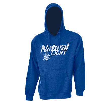Natty Light Logo Royal Blue Hooded Sweatshirt