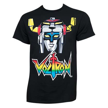VOLTRON Head Logo Black Shirt