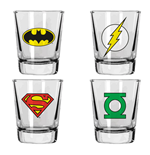 DC Comics Shotglass 4-Pack Heroes