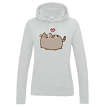 Pusheen Ladies Hooded Sweater Love Heart