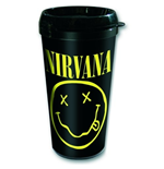 Nirvana Travel Mug - Logo & Smiley