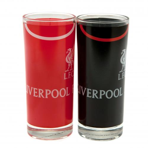 Liverpool F.C. 2pk High Ball Glass