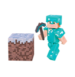 Minecraft Action Figure Alex In Diamond Armor 8 cm