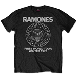 Ramones Men's Special Edition Tee: First World Tour 1978