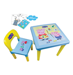 PEPPA PIG My First Activity Table & Chair Set with 30pc Creative Activity Kit