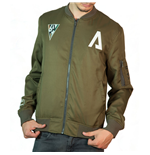 TITANFALL 2 Pilot Bomber Jacket, Medium, Kaki Green