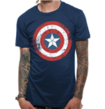 Captain America: Civil War T-shirt - Cap Sheild Distressed