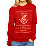 "HARRY POTTER - ""xmas Crest CREW"" - Unisex Sweatshirt Red"