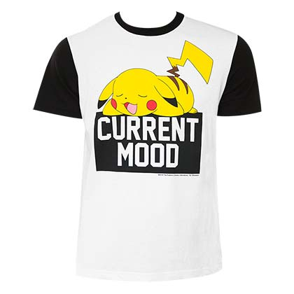 POKEMON Pikachu Current Mood Tee Shirt