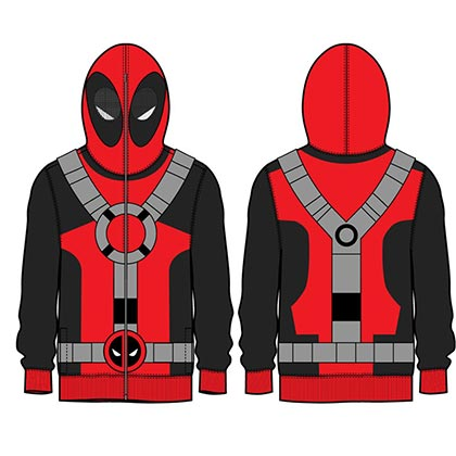 DEADPOOL Zip Up Full Mask Hoodie