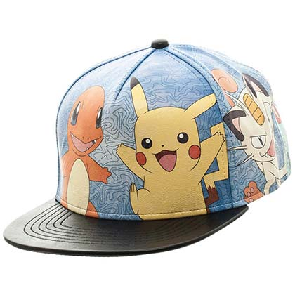 POKEMON Pikachu Charmander and Meowth Baseball Hat