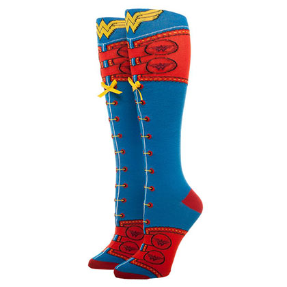 WONDER WOMAN Knee High Lace Up Women's Socks