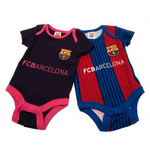 F.C. Barcelona 2 Pack Bodysuit 0/3 mths VS