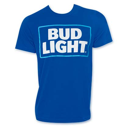 BUD LIGHT New Logo Blue Tshirt