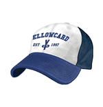 Yellow Card - White Blue Flex Cap
