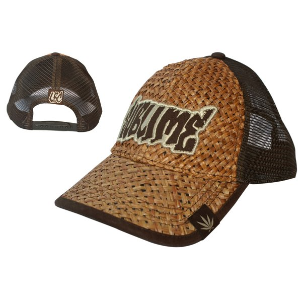 official sublime brown leaf straw truck cap buy   offer