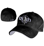 Rush - Black With Red Logo Flex Cap