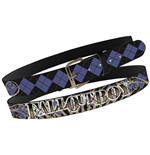 Fall Out Boy - Blk Arg Print Stitch Belt