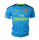 2016-2017 Arsenal Puma Away SS Goalkeeper Shirt (Blue)
