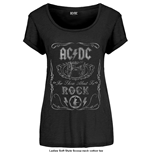 AC/DC Ladies Fashion Tee: Canon Swig Vintage