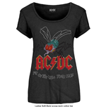 AC/DC Ladies Fashion Tee: Fly on the Wall