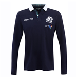 2016-2017 Scotland Home LS Cotton Rugby Shirt
