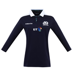 2016-2017 Scotland Macron Home Womens Cotton Rugby Shirt