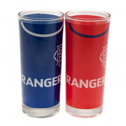 Rangers F.C. 2pk High Ball Glass