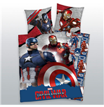 Captain America Civil War Duvet Set Tony & Steve 135 x 200 cm / 80 x 80 cm