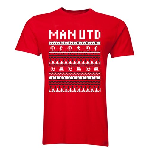 Man Utd Christmas T Shirt Red For Only 163 16 15 At