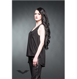 Sleeveless top with transparent back and