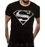 Superman T-shirt - Logo Mono Distressed