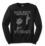 David Bowie Men's Long Sleeved Tee: Heroes Court
