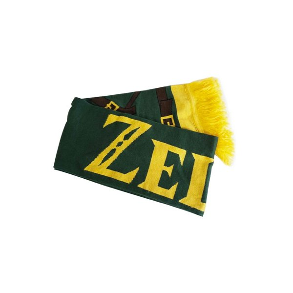 Zelda - Link's Knitted Scarf with printed Straps