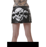 "Leather Skirt with Skull & ""Rock Queen"""