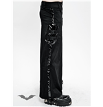 Long skirt with latex appliqué
